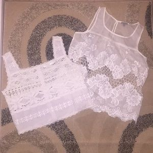Tops - 2 White Lace Tops